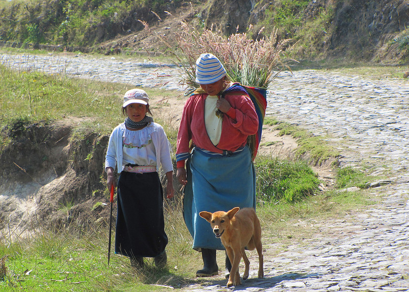 An indigenous woman and her child