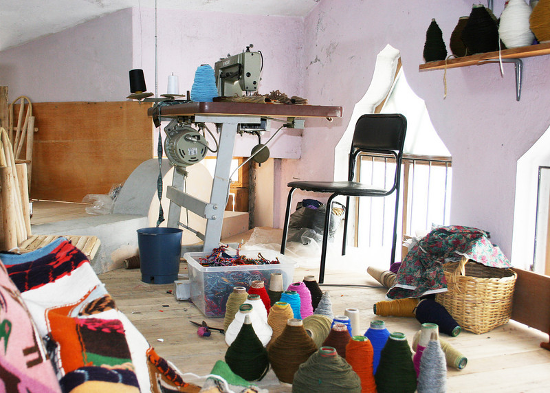 This is a work room in one of the shope in Peguche