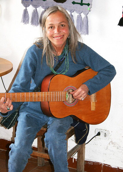 Margarita is co-owner of the Ali Shungu Mountaintop Resort and was good enough to take us around the area.  Here she is playing the guitar.