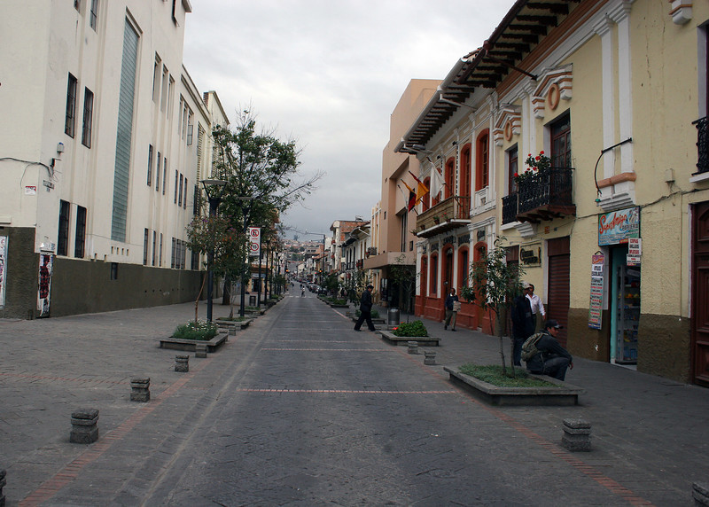 "The streets in ""Old Town"" Cuenca are narrow and cobblestone."