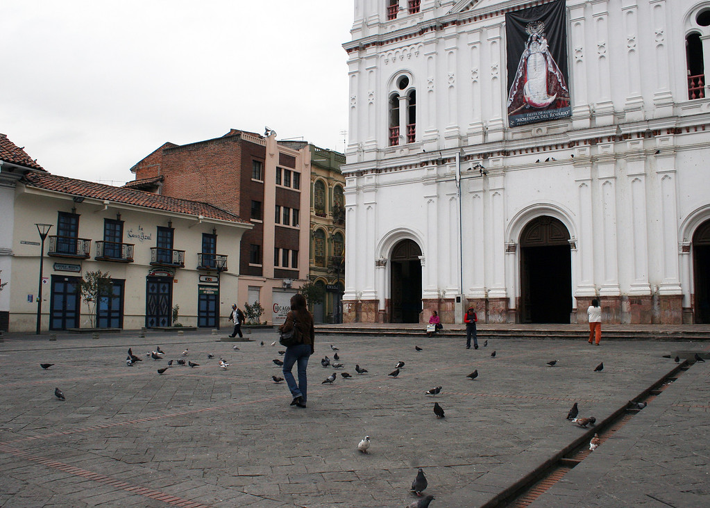 Plaza in front of Iglesia de Santo Domingo
