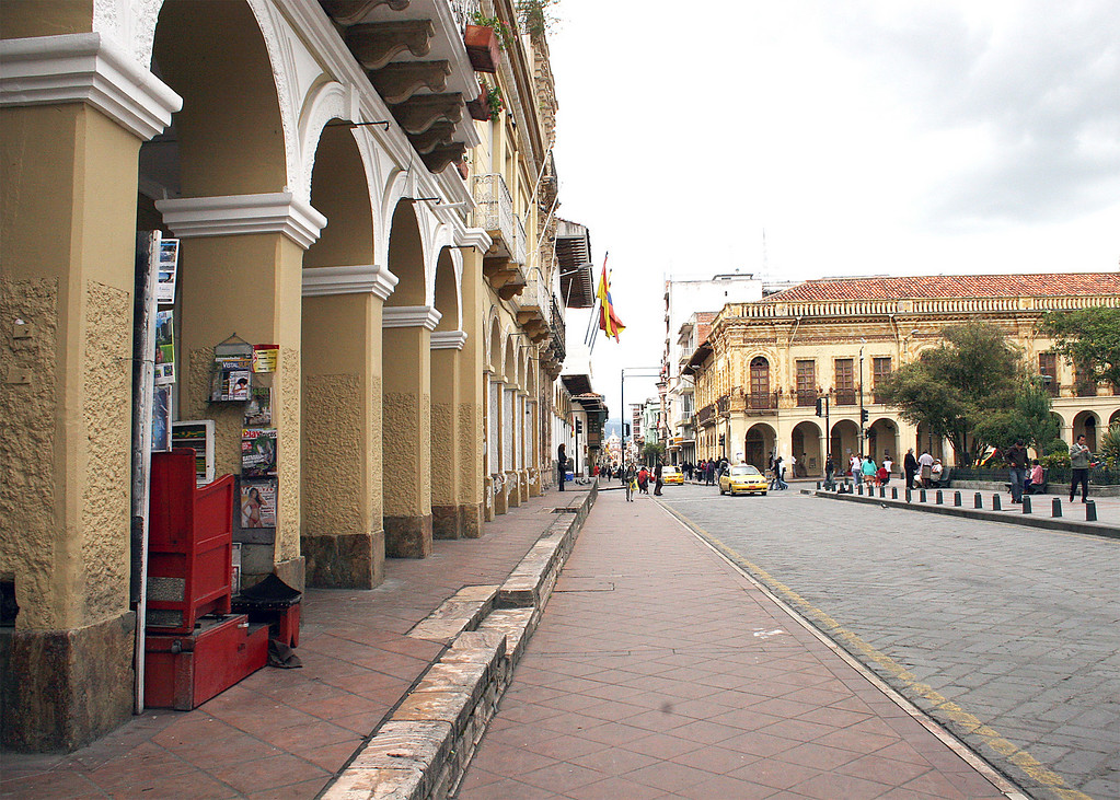 A street along the Gran Plaza