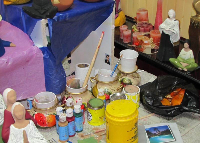Some of the crafts in Casa de la Mujer