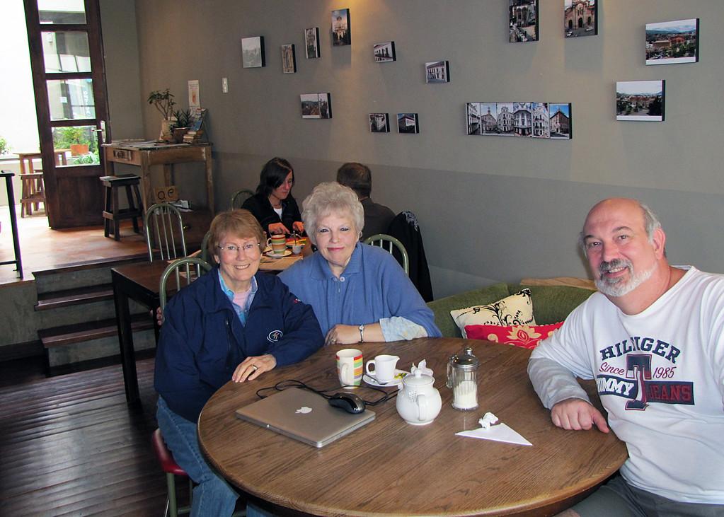 Susan, Jon and Simon at the Kookaburra