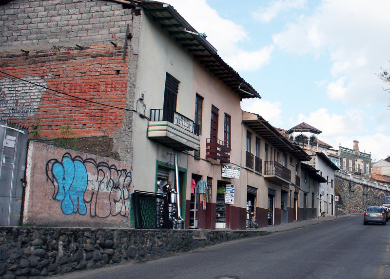 Street and buildings in Cuenca