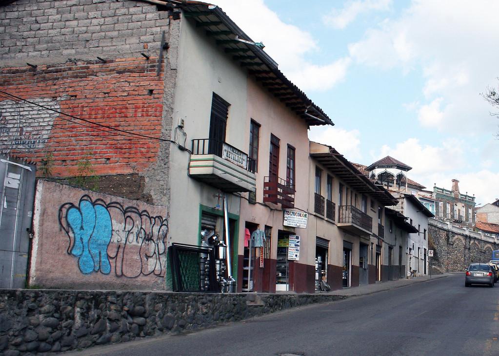 Street and buildings in Cuenca