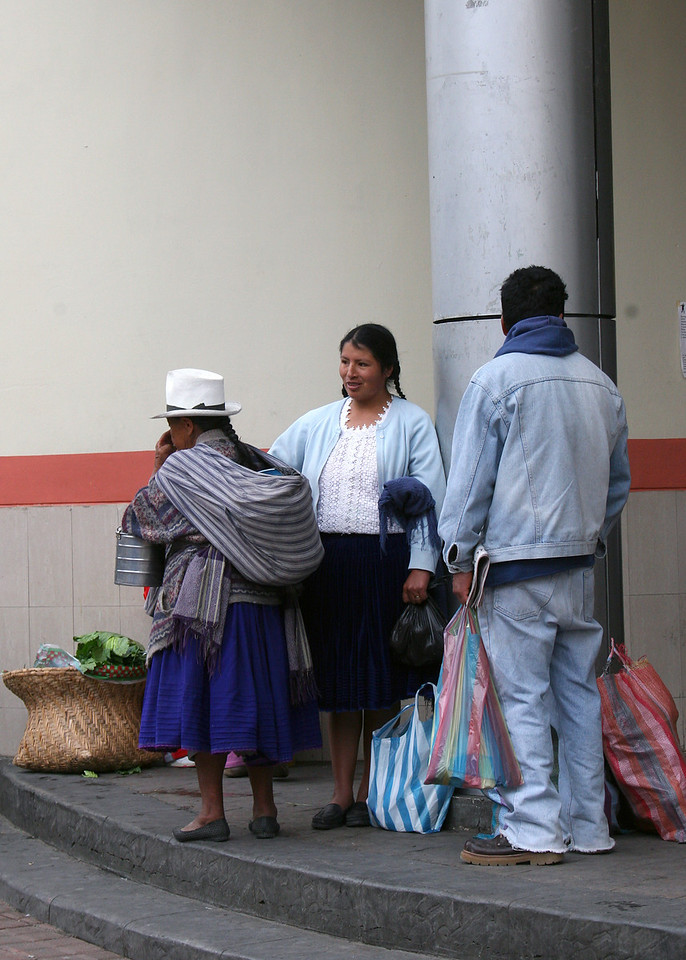 People outside the market