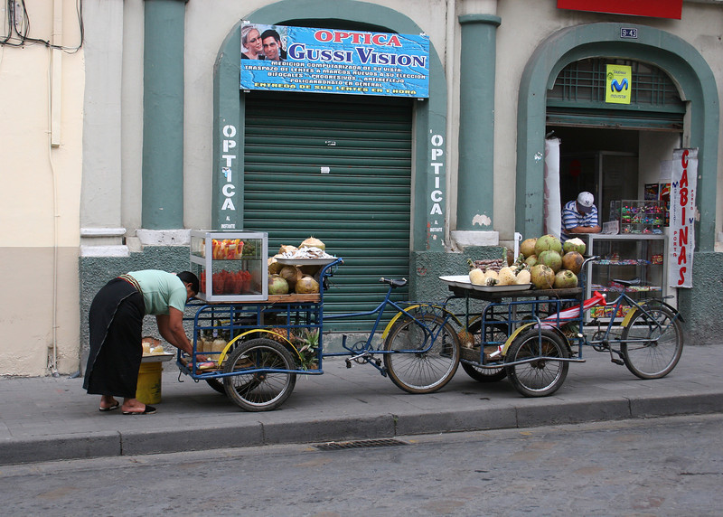 Vendors along the street