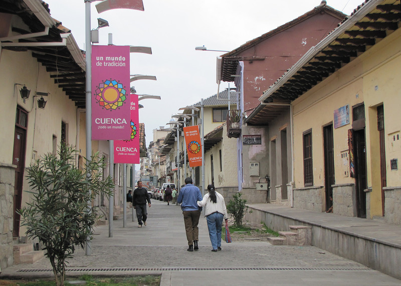 One of the streets in Cuenca