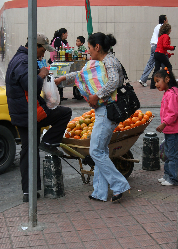 You can buy oranges 40 for $1.00 along the street