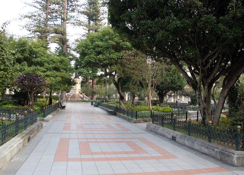This beautiful Park, Abdon Calderon, where people gather for cultural events or just to rest and talk.