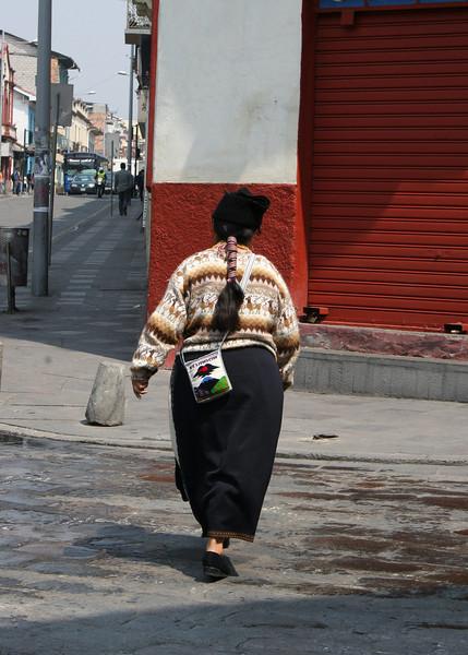 Lady walking along street