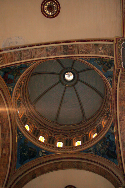 This is part of the ceiling of the New Catedral or Catedral of Immaculate Conception started being built in 1880.