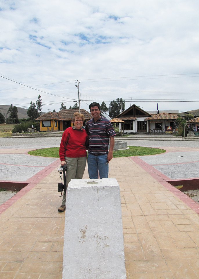 Susan with our driver, Fabian, in Cayambe.