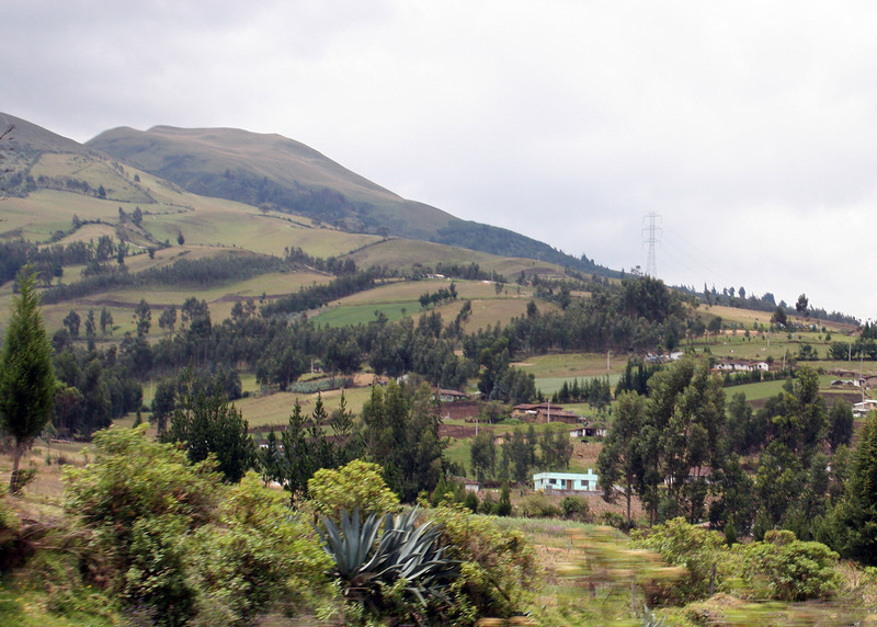 Between Cayambe and Otavalo.  The countryside is much greener now.