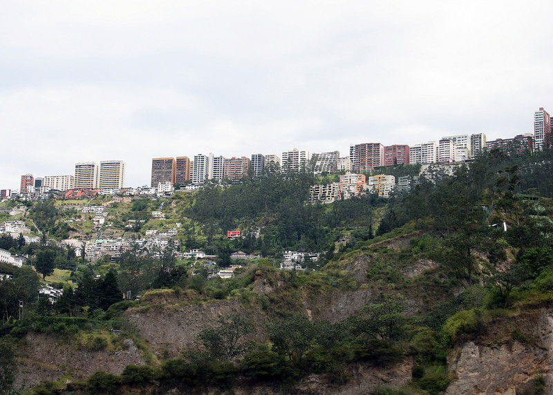 Part of Quito from the road as we head towards Otavalo.
