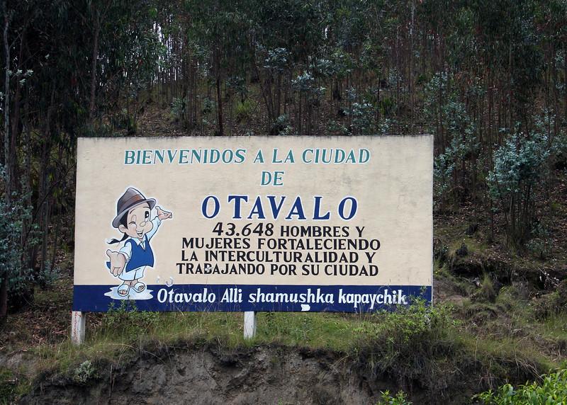 Coming into Otavalo.