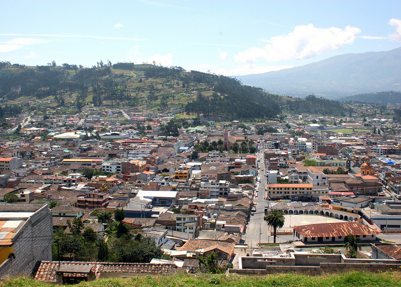 Overlooking the city of Otavalo.