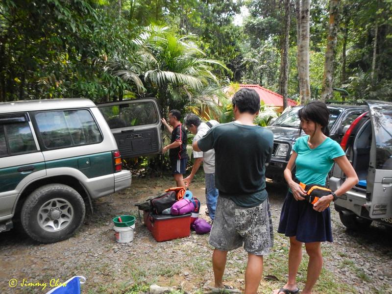 Unpacking at Lubuk Tapah.