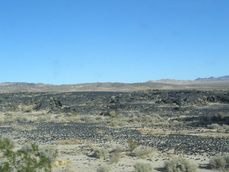 Lava flow before Newberry Springs, CA