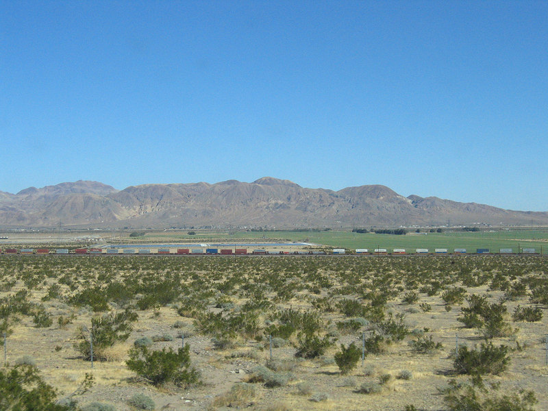 Trains at Daggett, CA