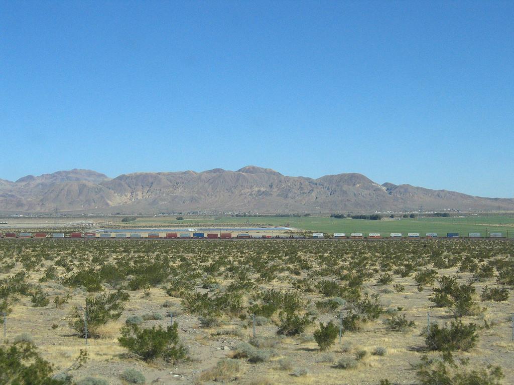 Trains at Daggett, CA