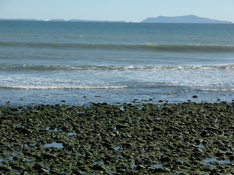 Rocks along the beach