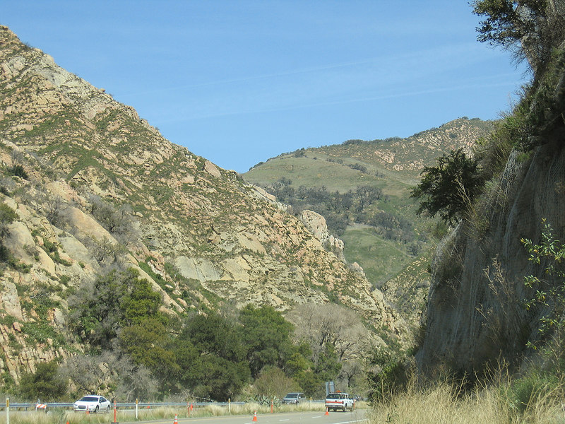 Going through the pass north of Santa Barbara, CA