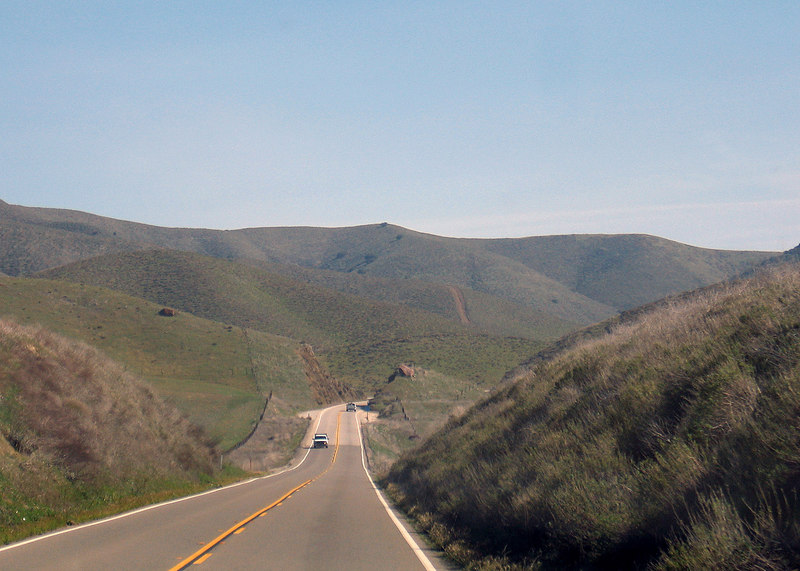 Route 46 heading east to Interstate 5
