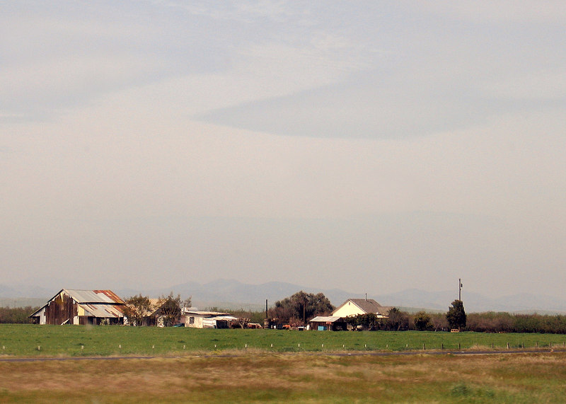 Farmland south of Patterson, CA along Interstate