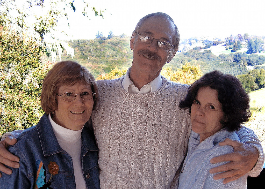Before Dieter hurried off to work we needed a picture.  Susan with Dieter and Gail overlooking their beautiful property
