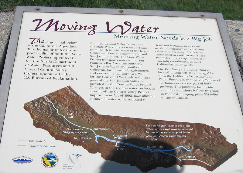 Information sign about the California Canal System