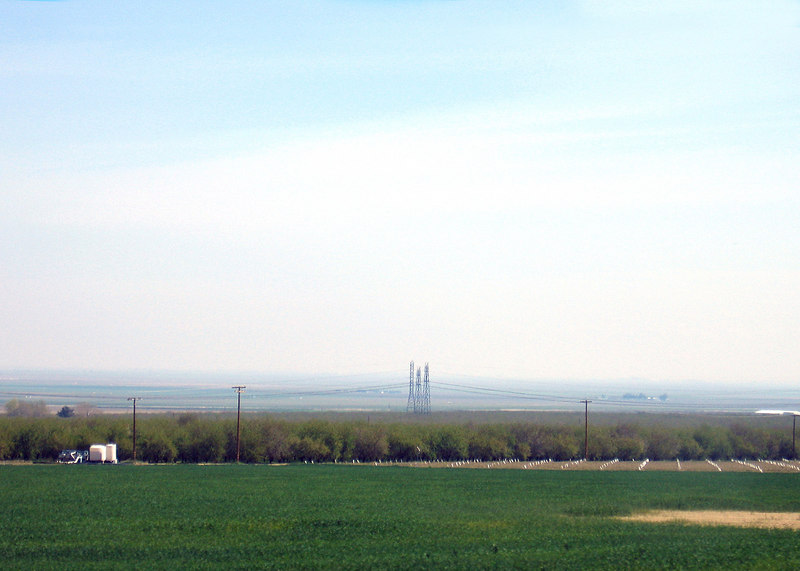 Between Kettleman, CA and Avenal, CA on Interstate 5