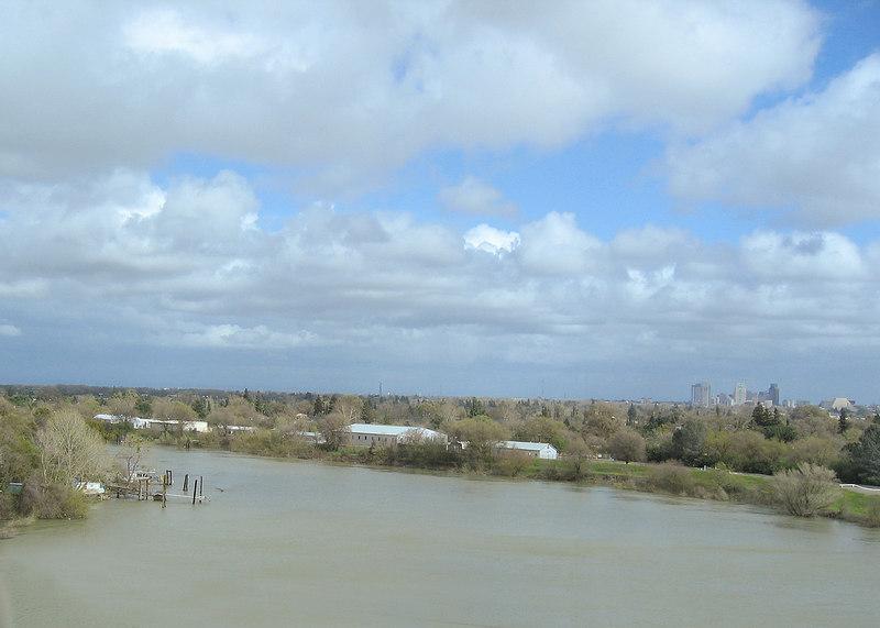 The Sacramento River at Sacramento, CA