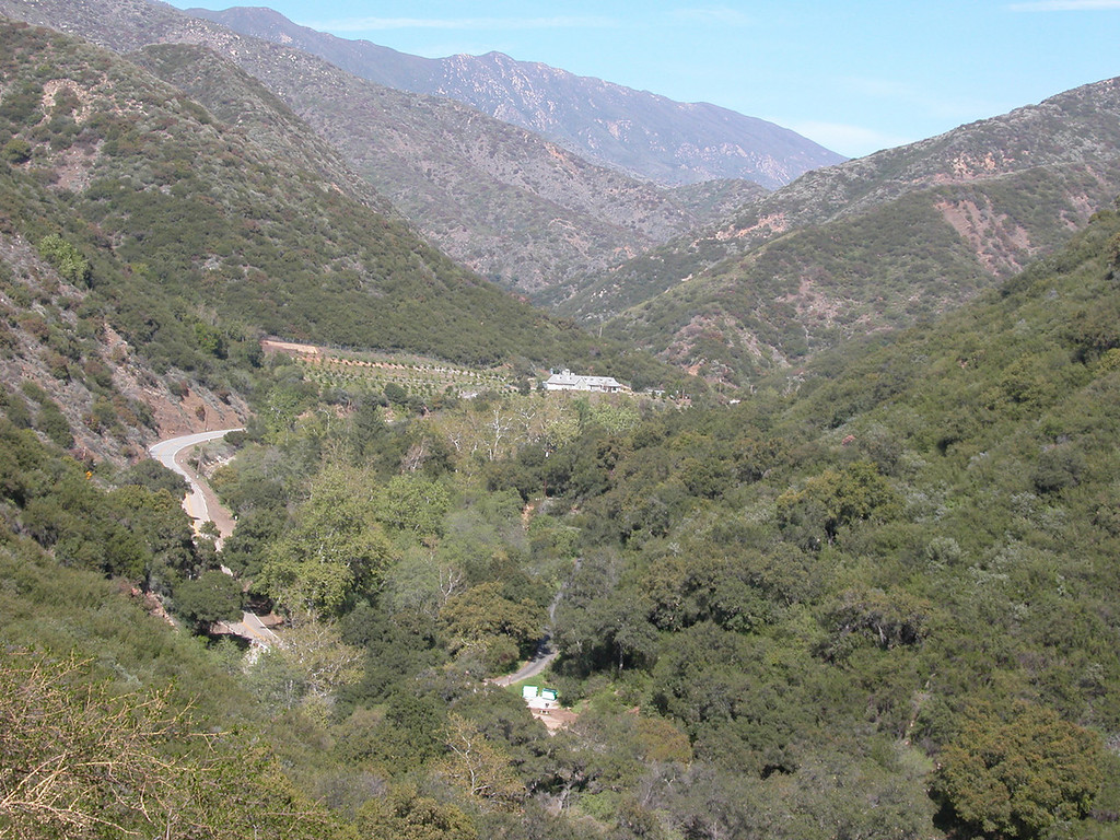 View from road behind Matilija Dam