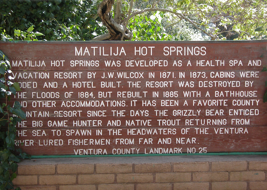 Sign about Matilija Hot Springs