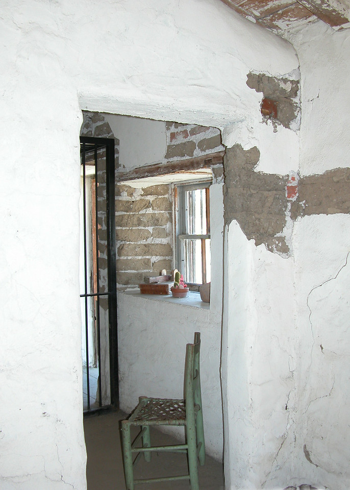 This is the inside of the Adobe of Emidio Ortega, built in 1857