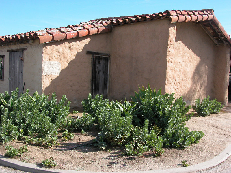 This is the outside of the Adobe of Emidio Ortega, built in 1857