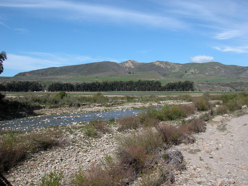 After seeing the Adobe of Emidio Ortega I returned home and made a grocery list.  I put on my back pack and headed off again.  I took several pictures of the Ventura River looking towards the mountains.