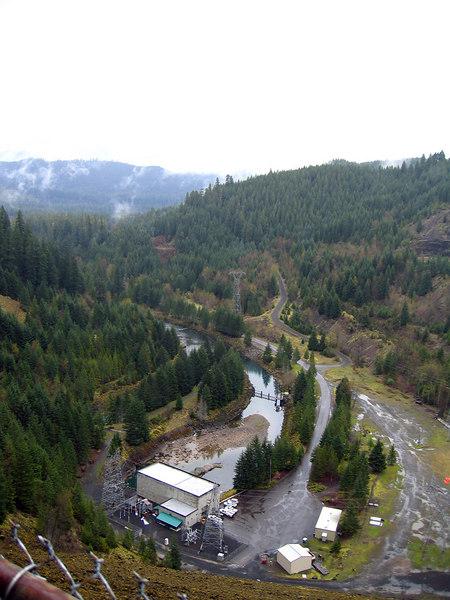 Below Cougar Dam