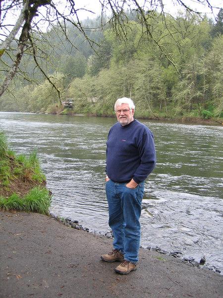 Mike at Hendricks Bridge Park along the McKenzie River