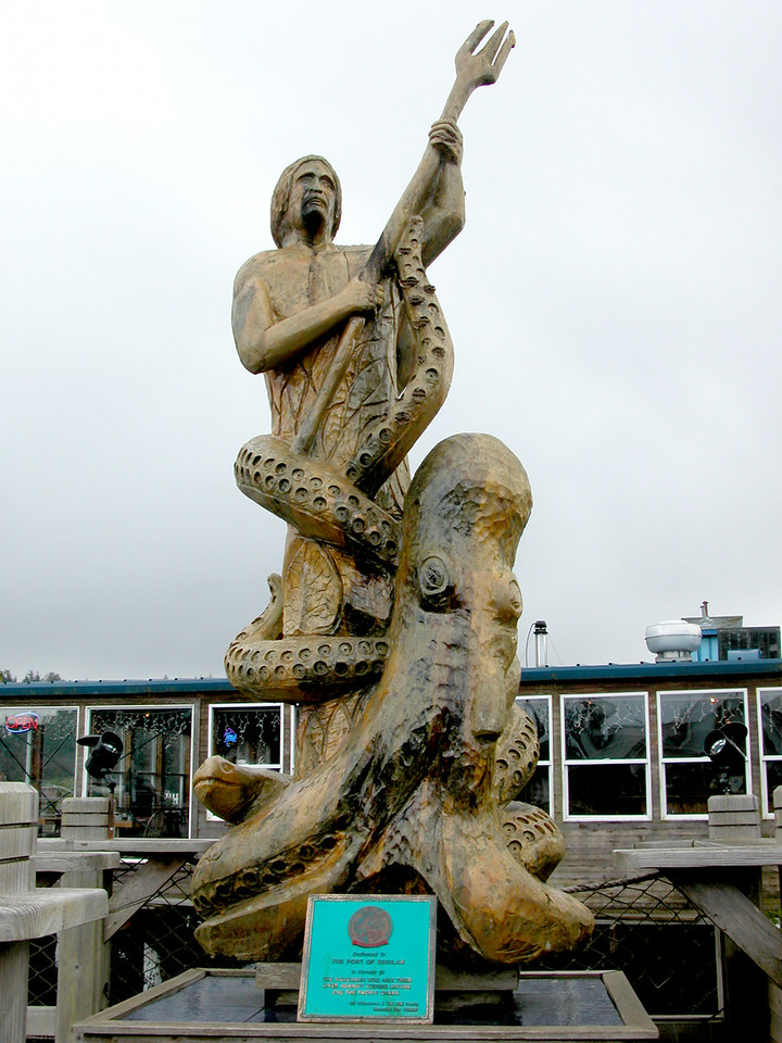 Neptune statue in Florence, OR