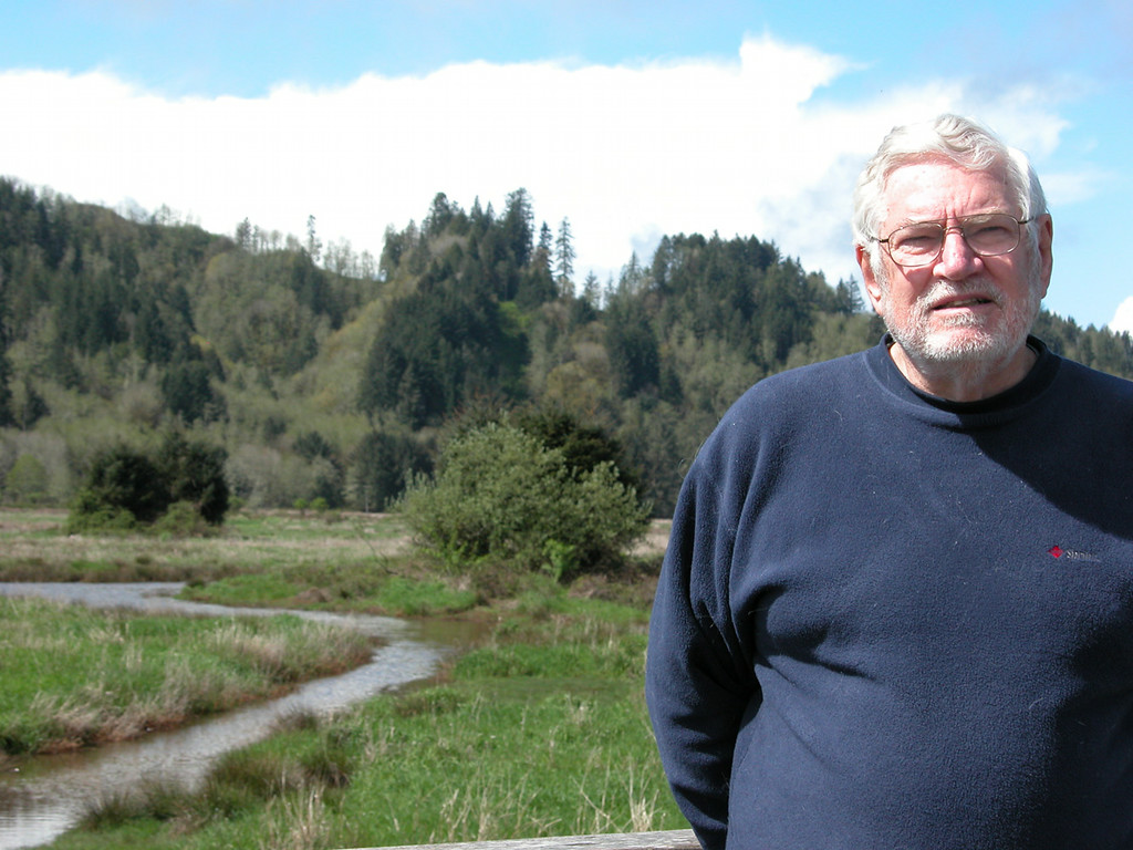 Mike at  the Dean Creek Elk Viewing Area just outside of Reedsport, OR