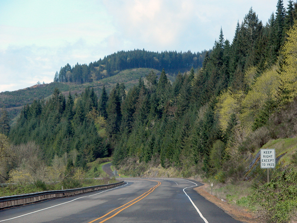 Route 38 heading west towards Reedsport, OR