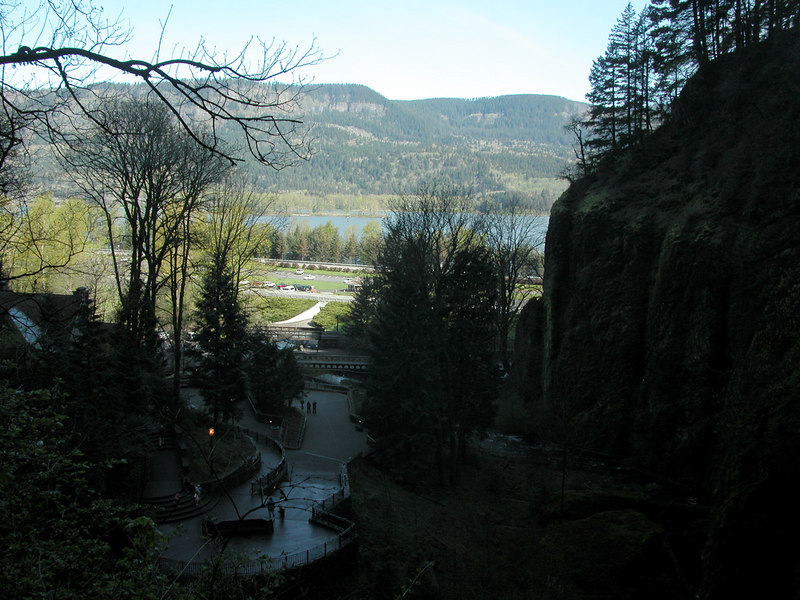 View of Columbia River from Multnomah Falls