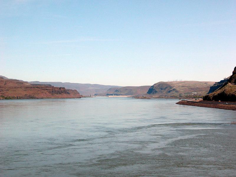 The Columbia River from the Biggs Rapids Bridge