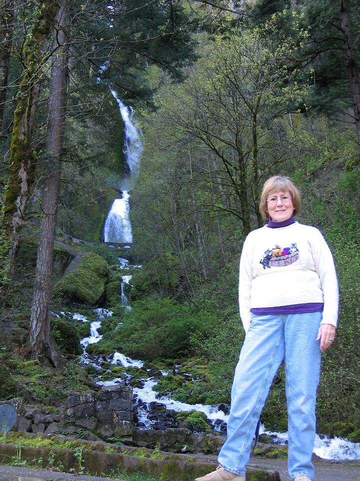 Susan at Wahkeena Falls