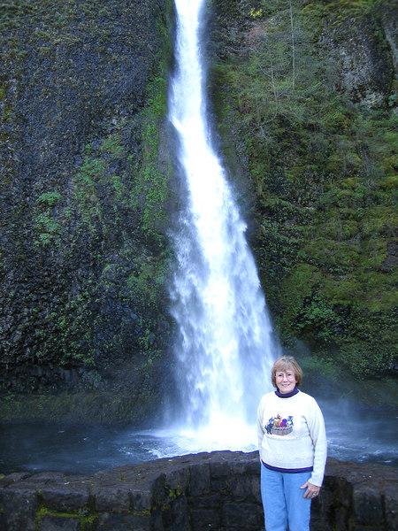 Susan at Horsetail Falls