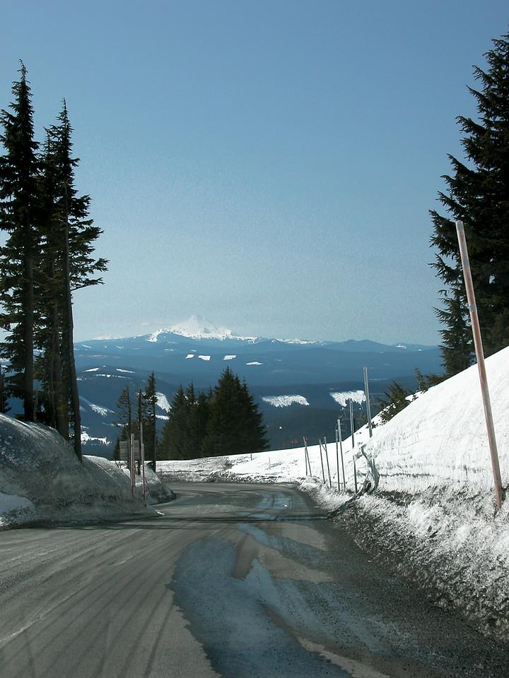 Leaving Timberline Lodge and Mt. Hood