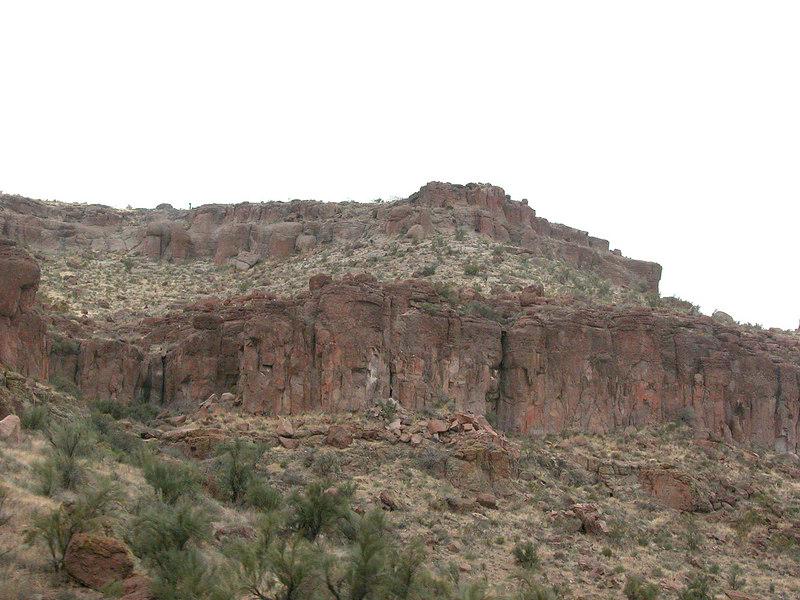 Red bluffs in Arizona